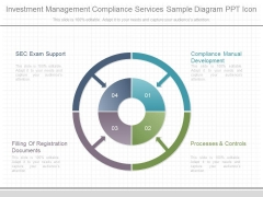 Investment Management Compliance Services Sample Diagram Ppt Icon