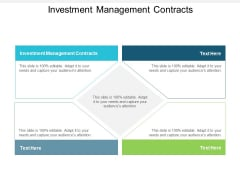 Investment Management Contracts Ppt PowerPoint Presentation Pictures Tips Cpb