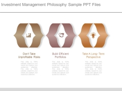 Investment Management Philosophy Sample Ppt Files