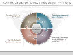 Investment Management Strategy Sample Diagram Ppt Images