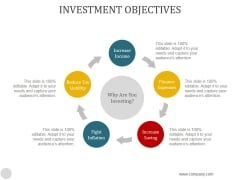 Investment Objectives Ppt PowerPoint Presentation Graphics