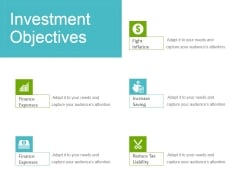 Investment Objectives Ppt Powerpoint Presentation Icon Samples