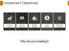 Investment Objectives Ppt PowerPoint Presentation Infographics Graphic Tips