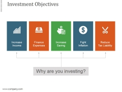 Investment Objectives Template1 Ppt PowerPoint Presentation Guide