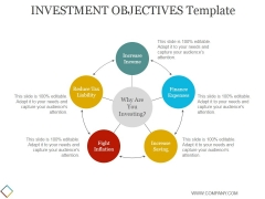 Investment Objectives Template 1 Ppt PowerPoint Presentation Ideas