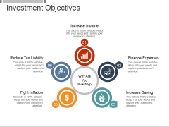 Investment Objectives Template 1 Ppt PowerPoint Presentation Visual Aids