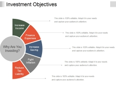 Investment Objectives Template 2 Ppt PowerPoint Presentation Icon Example Topics
