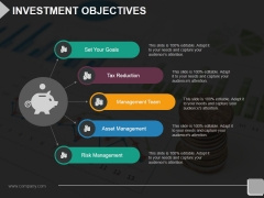 Investment Objectives Template 2 Ppt PowerPoint Presentation Professional Grid