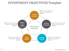 Investment Objectives Template Ppt PowerPoint Presentation Diagrams