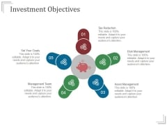 Investment Objectives Templates 2 Ppt PowerPoint Presentation Ideas