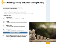 Investment Opportunity For Business Concept Funding Ppt PowerPoint Presentation Professional Styles