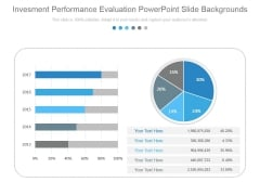 Investment Performance Evaluation Powerpoint Slide Backgrounds
