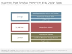 Investment Plan Template Powerpoint Slide Design Ideas