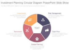Investment Planning Circular Diagram Powerpoint Slide Show