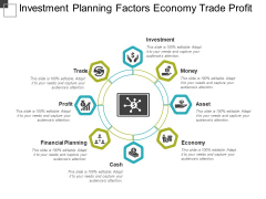Investment Planning Factors Economy Trade Profit Ppt PowerPoint Presentation Ideas Slide