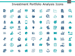 Investment Portfolio Analysis Icons Ppt PowerPoint Presentation Show Templates