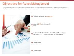 Investment Portfolio Asset Management Objectives For Asset Management Ppt Inspiration Background Images PDF