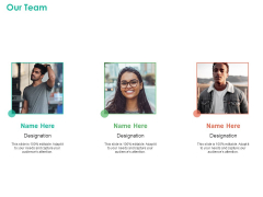 Investment Portfolio Management Our Team Ppt Pictures Shapes PDF