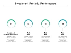 Investment Portfolio Performance Ppt PowerPoint Presentation Slides Template Cpb