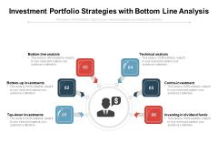 Investment Portfolio Strategies With Bottom Line Analysis Ppt PowerPoint Presentation Icon Portrait PDF