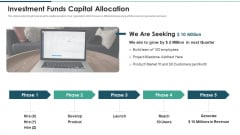 Investment Raising Pitch Deck Funds Allocation Investment Funds Capital Allocation Graphics PDF