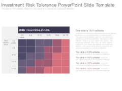 Investment Risk Tolerance Powerpoint Slide Template
