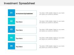 Investment Spreadsheet Ppt PowerPoint Presentation Portfolio Diagrams Cpb