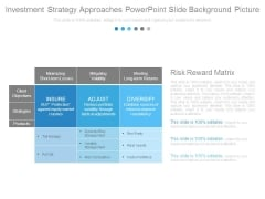 Investment Strategy Approaches Powerpoint Slide Background Picture