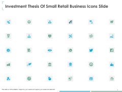 Investment Thesis Of Small Retail Business Icons Slide Ppt Infographics Images PDF