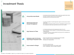 Investment Thesis Of Small Retail Business Investment Thesis Ppt Visual Aids Infographics PDF