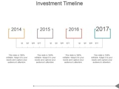 Investment Timeline Ppt PowerPoint Presentation Graphics