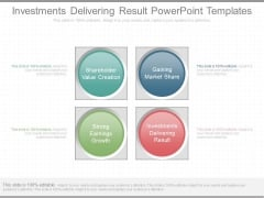 Investments Delivering Result Powerpoint Templates