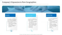 Investor Deck For Procuring Funds From Money Market Companys Expansion In New Geographies Slides PDF