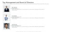 Investor Deck Procure Funds Bridging Loan Top Management And Board Of Directors Information PDF
