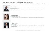 Investor Deck Procure Funds Bridging Loan Top Management And Board Of Directors Key Designs PDF