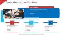 Investor Deck To Arrange Funds From Short Term Loan Company Future Or Long Term Goals Structure PDF
