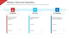 Investor Deck To Arrange Funds From Short Term Loan Mission Vision And Aspiration Elements PDF