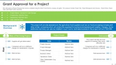 Investor Deck To Increase Grant Funds From Public Corporation Grant Approval For A Project Inspiration PDF