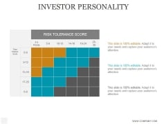 Investor Personality Ppt PowerPoint Presentation Diagrams