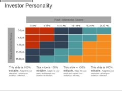Investor Personality Template 2 Ppt PowerPoint Presentation Sample
