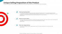 Investor Pitch Deck For Seed Funding From Private Investor Unique Selling Proposition Of The Product Themes PDF