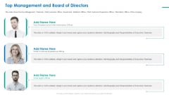 Investor Pitch Deck For Short Term Bridge Loan Top Management And Board Of Directors Here Slides PDF
