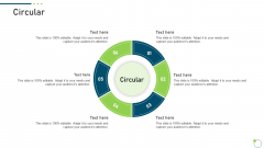 Investor Pitch Deck New Venture Capital Raising Circular Formats PDF