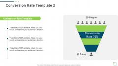Investor Pitch Deck New Venture Capital Raising Conversion Rate Sales Designs PDF