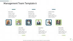 Investor Pitch Deck New Venture Capital Raising Management Team Web Pictures PDF