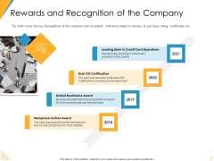 Investor Pitch Deck Post Market Financing Rewards And Recognition Of The Company Portrait PDF