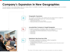 Investor Pitch Deck Public Offering Market Companys Expansion In New Geographies Structure PDF