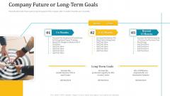 Investor Pitch Deck Short Term Caveat Loan Company Future Or Long Term Goals Brochure PDF