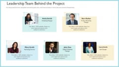 Investor Pitch Deck To Generate Capital From Initial Currency Offering Leadership Team Behind The Project Microsoft PDF