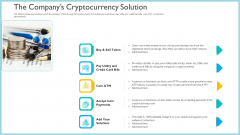Investor Pitch Deck To Generate Capital From Initial Currency Offering The Companys Cryptocurrency Solution Elements PDF